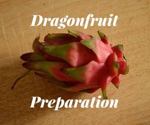 Preparing a Dragonfruit