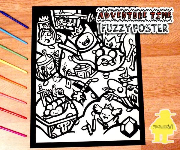 Adventure Time Fuzzy Velour Poster