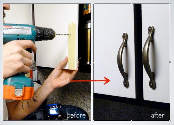 Installing Kitchen Cabinet Door Handles