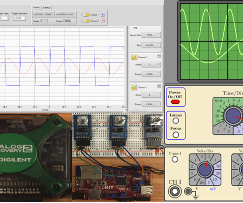 Adding knobs to the Analog Discovery 2 using LabVIEW