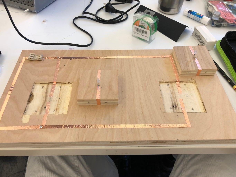 Applying Copper Tape and Battery Holder