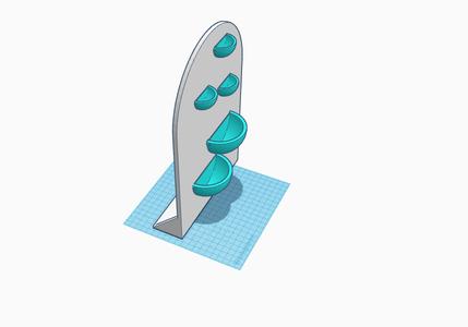3D Printed Modular Bookend Planter Using Tinkercad.