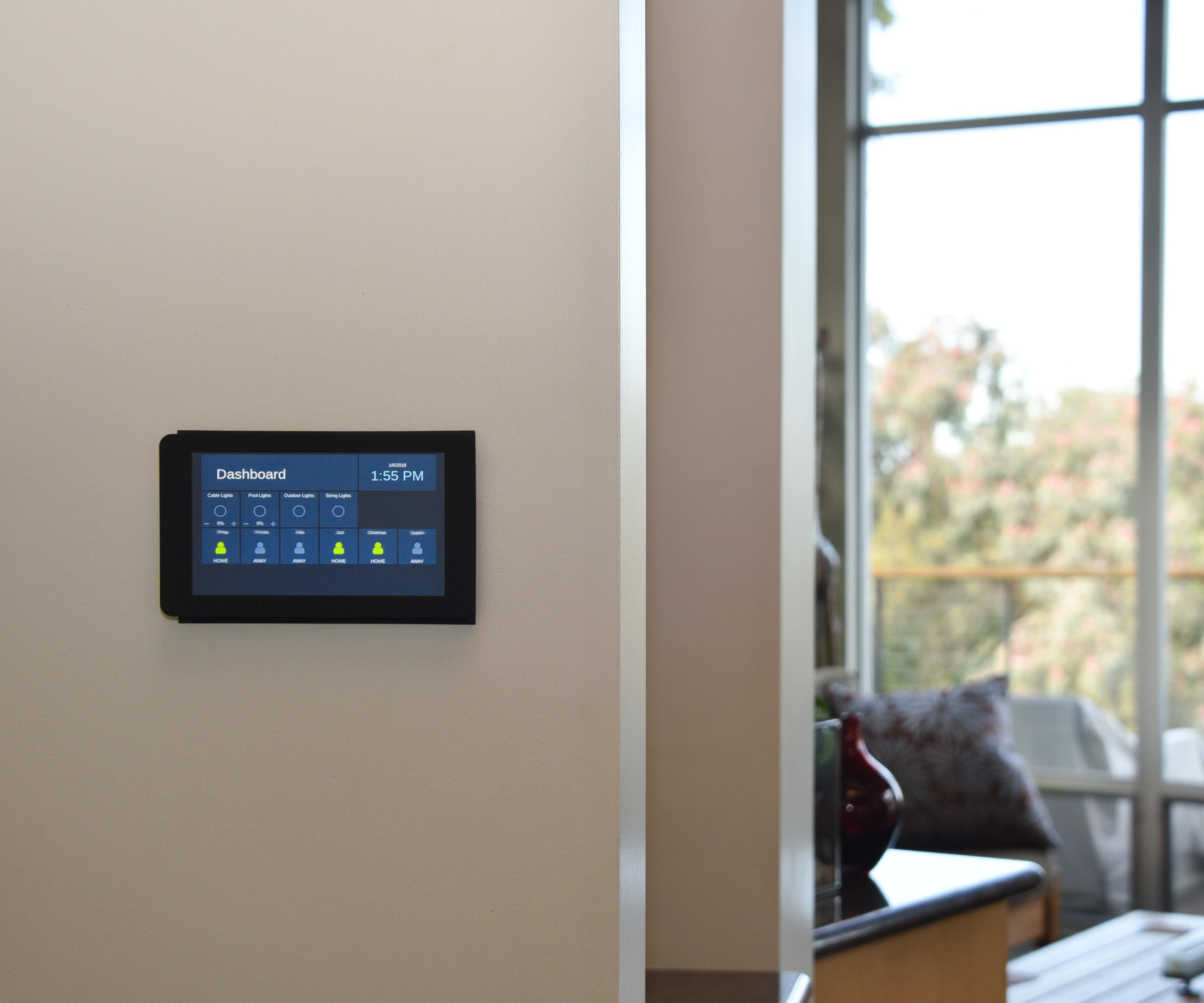 Flush Wall-Mounted Raspberry Pi Touchscreen