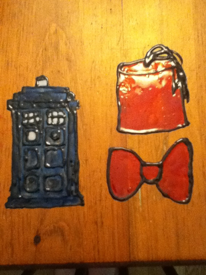 TARDIS and Fez/ Bow tie Window Cling