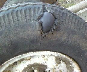 Duct tape Tire Repair