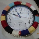 Crafting Old Wall Clock Using Colourfull Yarn