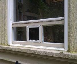 Pet Door Window Insert From XPS Foam and Double-Pane Glass