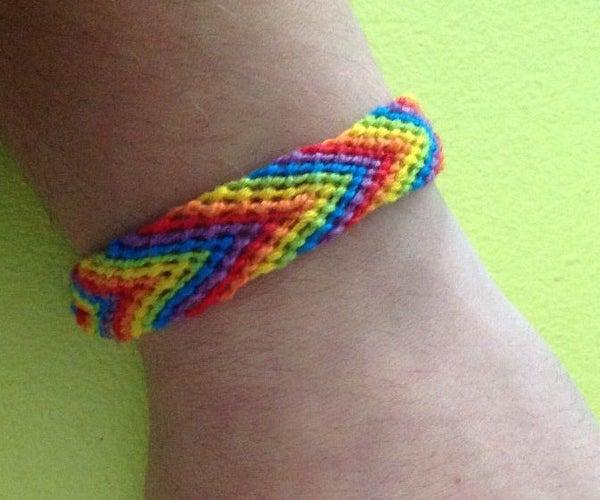 Rainbow Arrow Friendship Bracelet