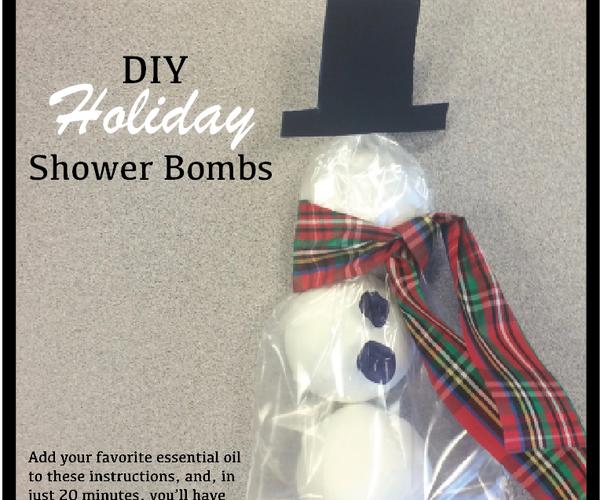 Snowman Shower Fragrance Bombs