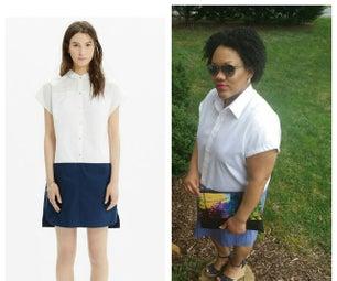 Madewell Shirt Dress Inspired Refashion