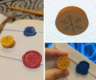 3D印花蜡邮票+热胶/蜡笔蜡