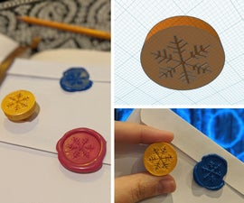 3D-printed Wax Stamps + Hot Glue/Crayon Wax