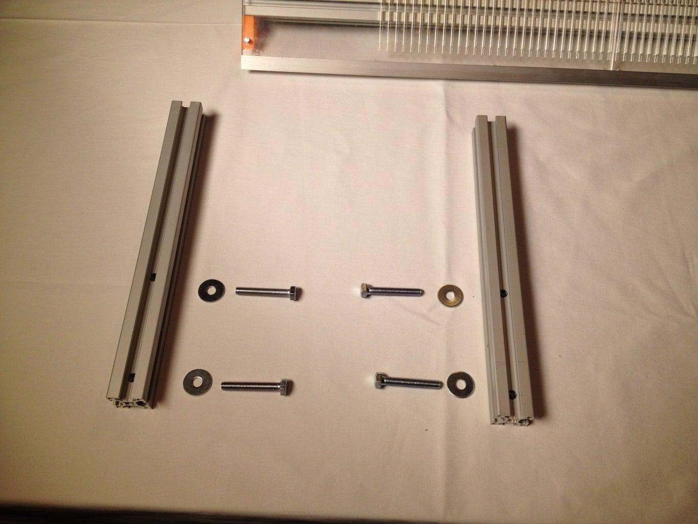 Place the Short Aluminum Profiles