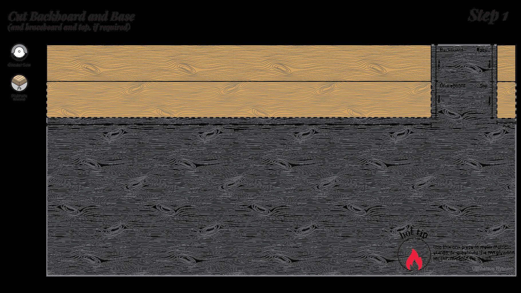 Cut Backboard and Base
