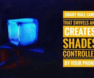智能壁灯(旋转和改变阴影由你的智能手机控制