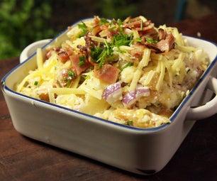 如何烹饪完全装烤的土豆沙拉