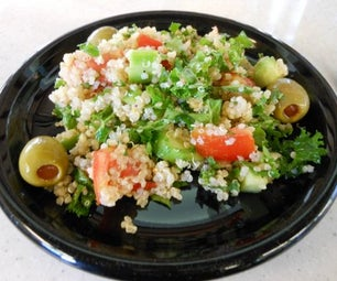 "Simple Cool Summer Quinoa and Kale ""Tabouli Salad"" -vegan, Gluten-free"