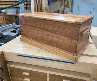 African Mahogany Blanket Chest