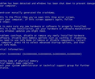 Display the BSoD With 3 Keystrokes
