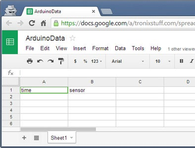 Testing the Arduino Yún-Google Docs Connection
