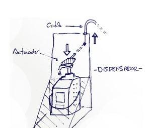 Dispensador Gel Hidroalcoholic Automàtic