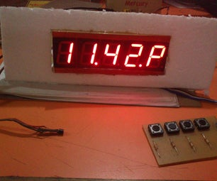 7 Segment Clock With Temperature Display  [ds18b20 and 5 Digit Display]