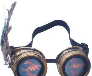 Holographic 'female' Steampunk Goggle