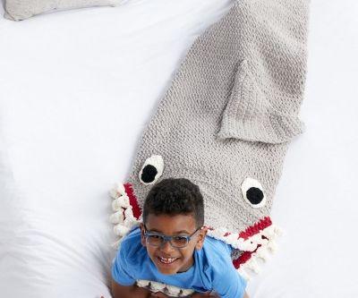 Fin-Tastic Shark Crochet Snuggle Sack