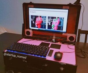 女人造的公文包电脑。