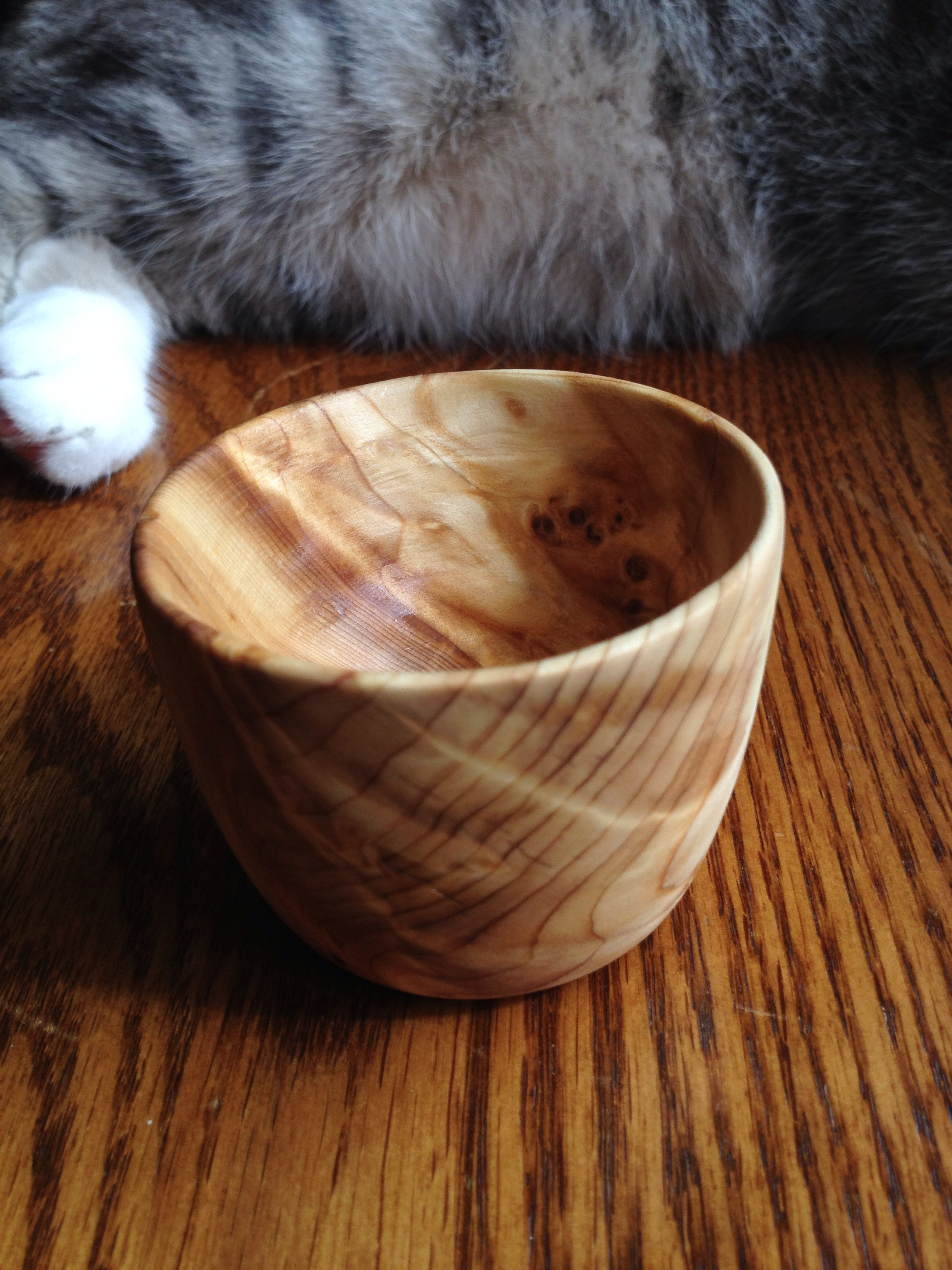 Easy Homemade Wooden Tea Cup Without A Lath