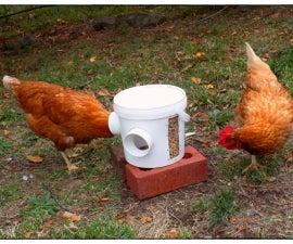 超级简易鸡饲料机