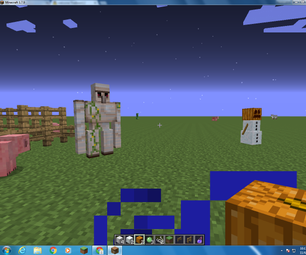 How to Make an Iron Golem and Snowman in Minecraft
