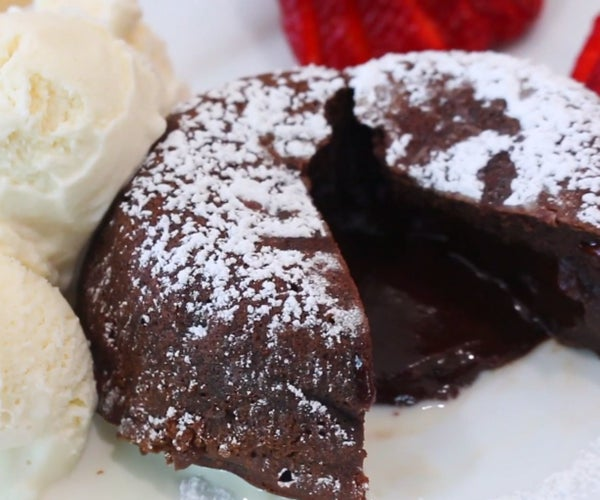 Chocolate Lava Cake | Molten Cake