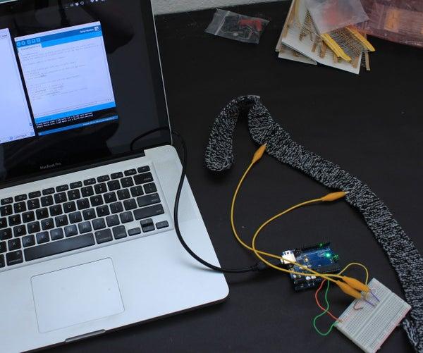 DIY Breath Sensor With Arduino (Conductive Knitted Stretch Sensor)