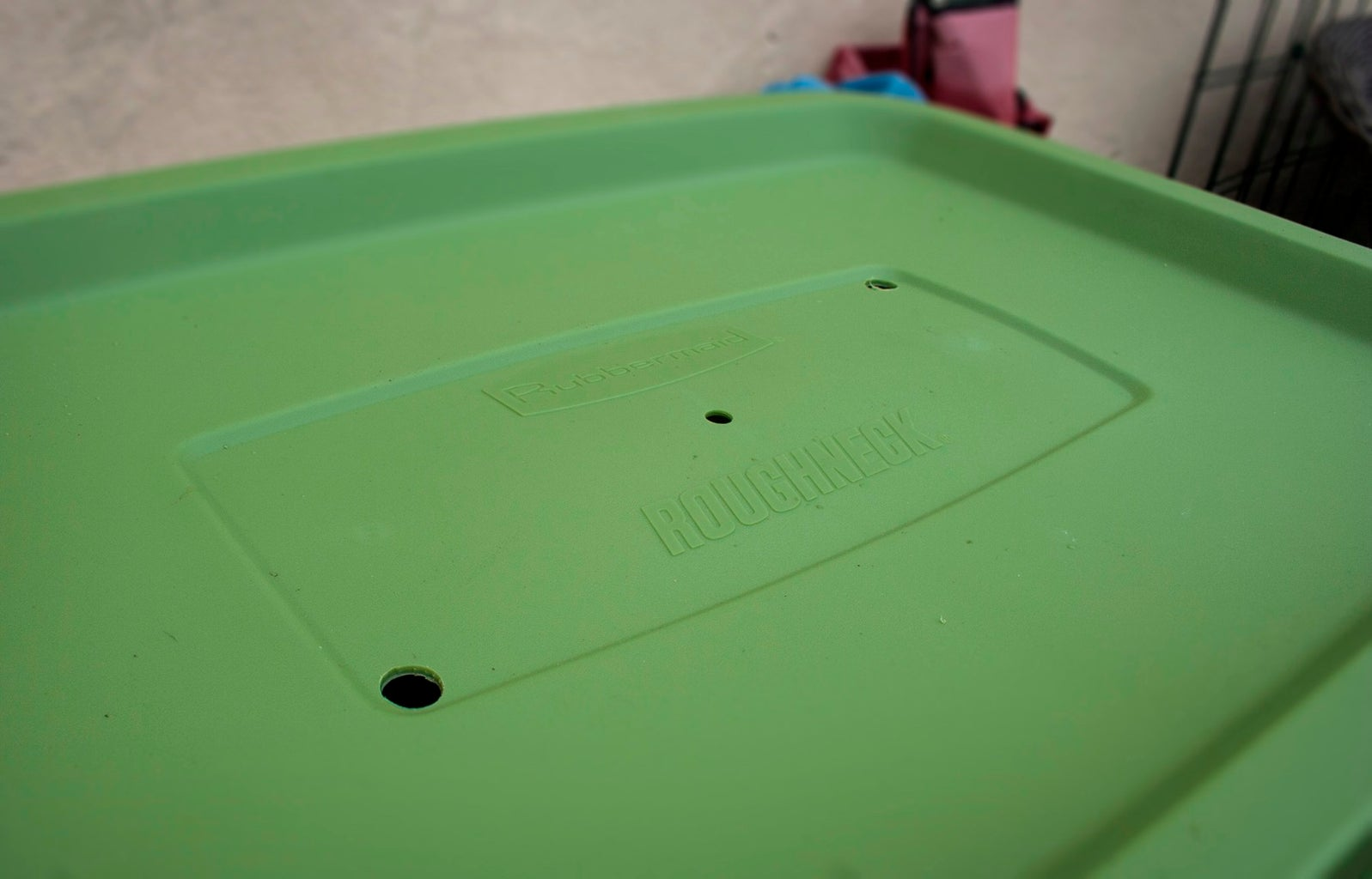 Drill Your Drainage Holes in the Bin Top