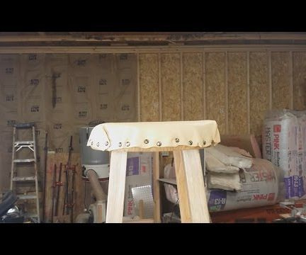 How to Unprofessionally Upholster a Stool