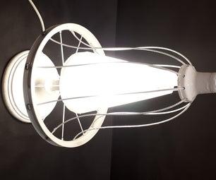 DIY Spinning Bike Wheel Lamp
