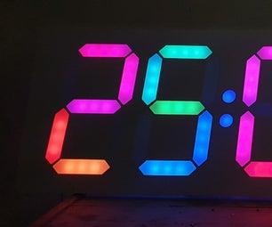 Big Digital Clock Using Ws2811 Led Strip and Arduino