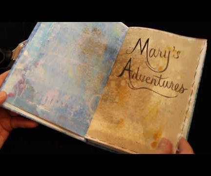 Handmade Memory Book with Mono-Printed Paper