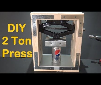 DIY 2 Ton Press Machine - How to Make a Crushing Press Machine at Home