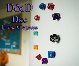 D&D Dice Fridge Magnets