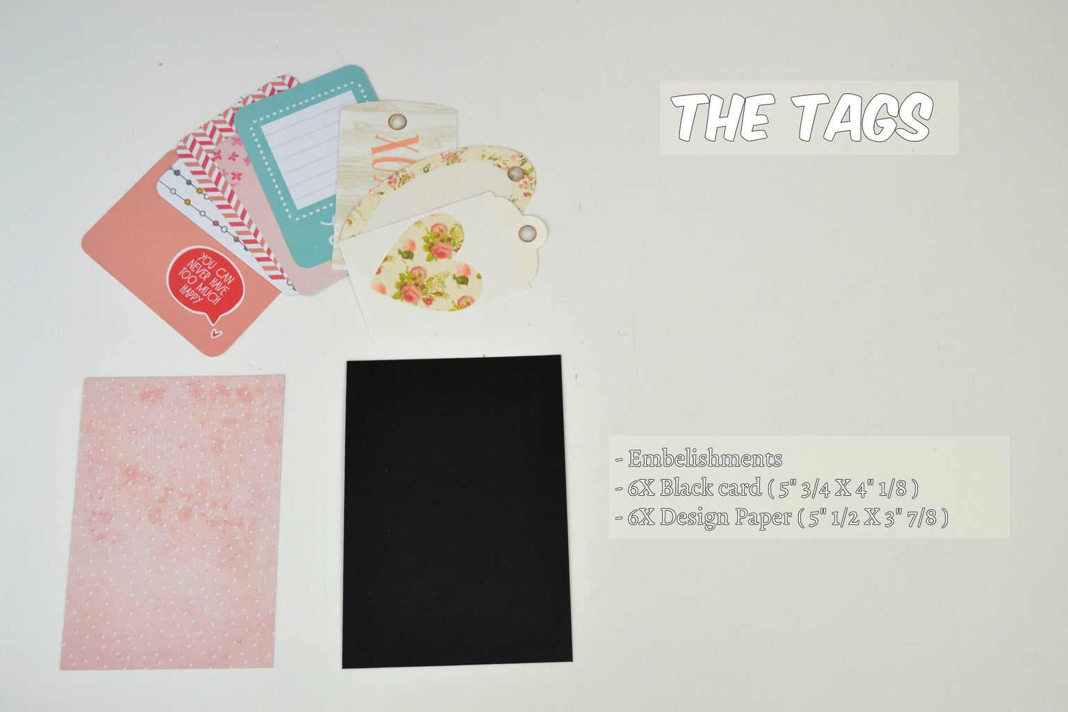 Making the Tags ( Dimensions )