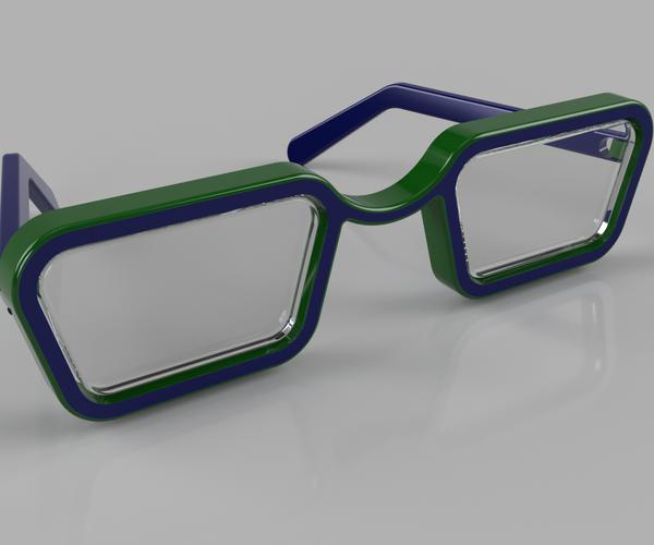 Folding Sunglasses Made in Fusion 360