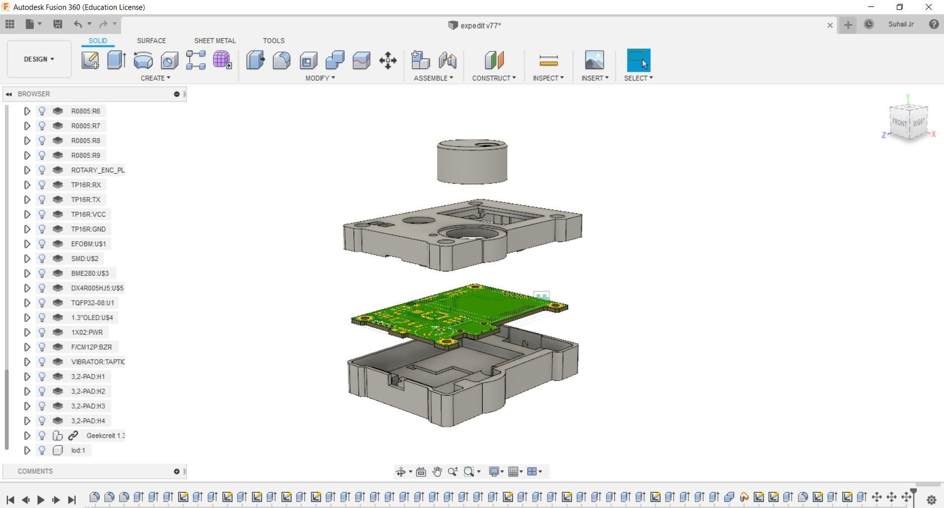 Designing Enclosure Using Fusion360