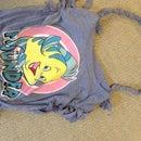 Cute T-shirt Beach Bag No-sew