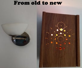 Wall Light With Interchangeable Front
