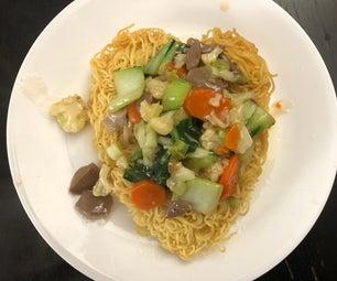 I Fu Mie (Crispy Noodle) With Heart Shape