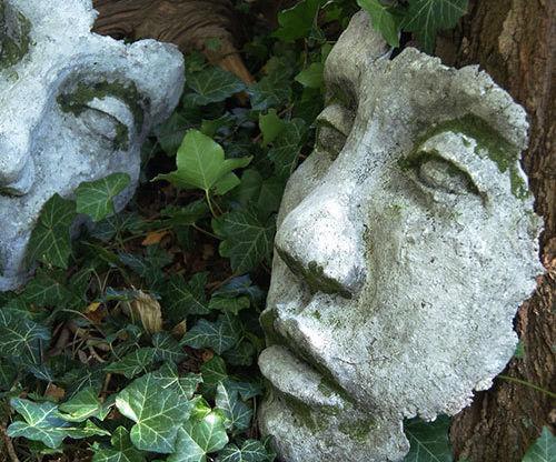 Huge DIY Concrete Face Garden Sculpture