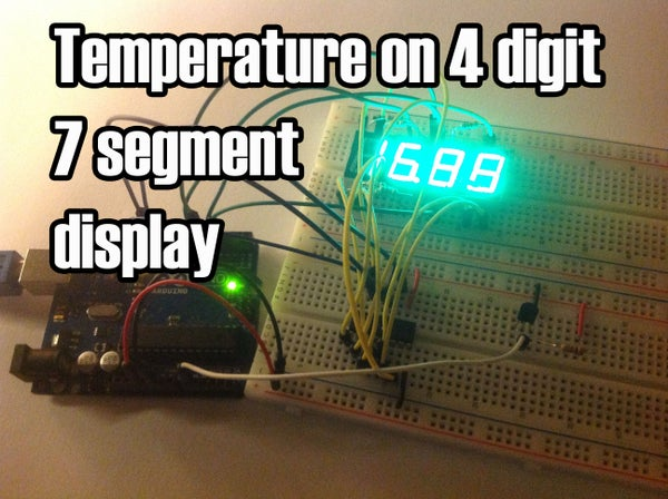 Temperature Displayed on 4 Digit 7 Segment (common Anode)