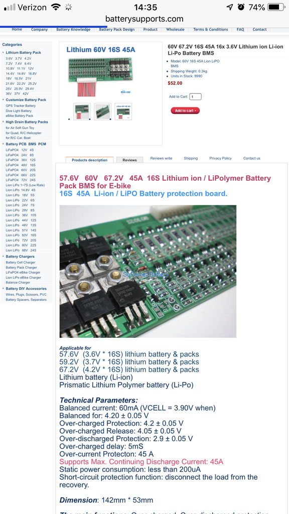 Find a Good Quality BMS (battery Management System)